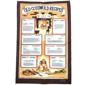 Cotswold Recipes Wye Valley map English tapestry
